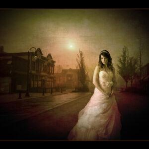 Vintage bride fine art portrait